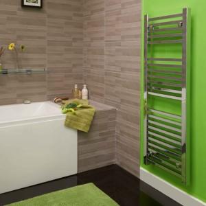 450 x 1200 Beta Heat Square Chrome Heated Towel Rail 9679 LR